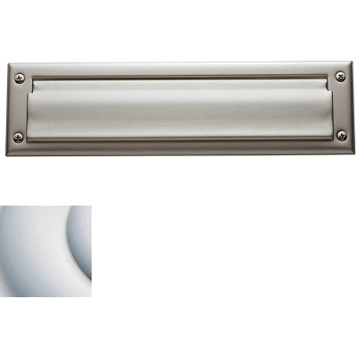 Baldwin Estate Series Letter Box Plate, Package Size - Satin Chrome