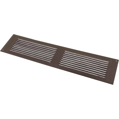 NorWesco 16 In. x 8 In. Brown Galvanized Soffit Ventilator