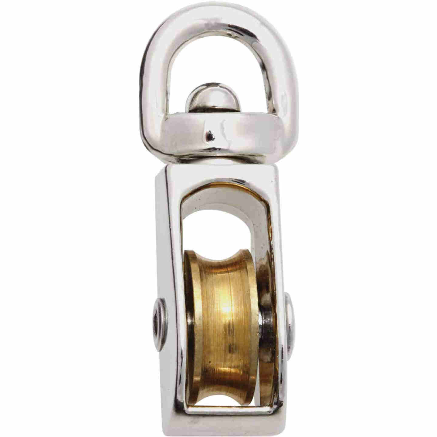 National 1/2 In. O.D. Single Swivel Eye No-Rust Rope Pulley Image 1