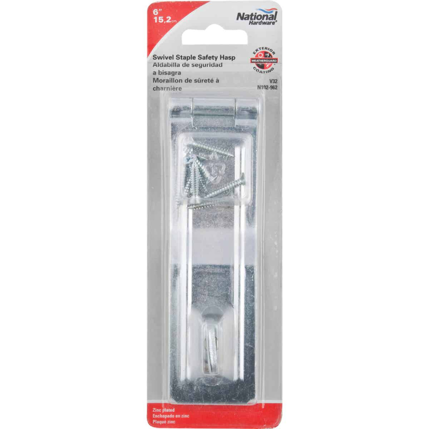 National 6 In. Zinc Swivel Safety Hasp Image 2