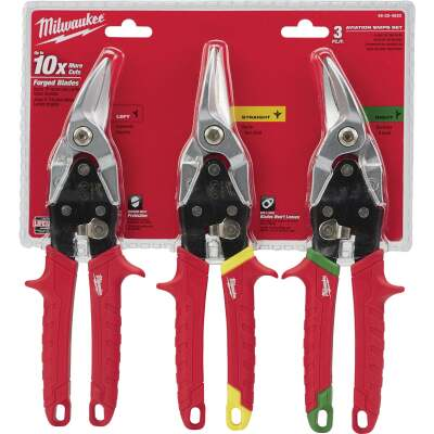 Milwaukee Aviation Snip Set (3 Piece)