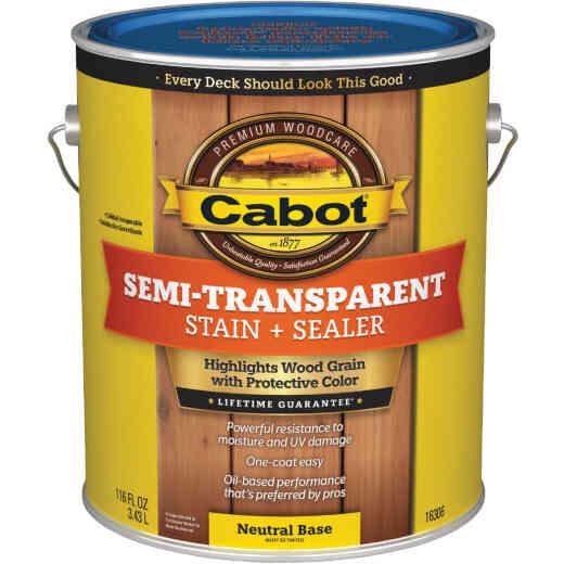 Cabot VOC Semi-Transparent Deck & Siding Exterior Stain, Neutral Base, 1 Gal.