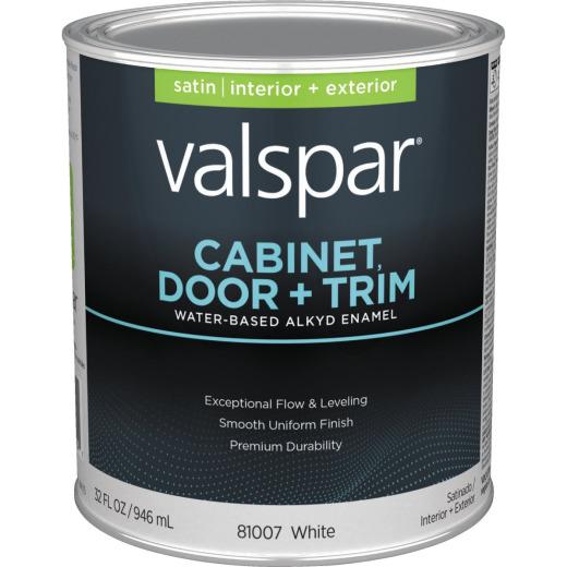 Pratt & Lambert Aquanamel Waterborne Alkyd Satin Interior/Exterior Enamel, Bright White Base, 1 Qt.