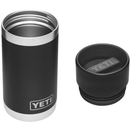 Yeti Rambler 12 Oz. Black Stainless Steel Insulated Vacuum Bottle with Hot Shot Cap